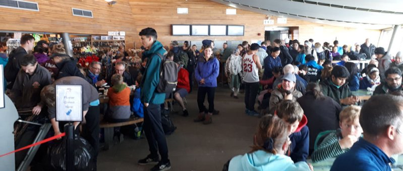 The cafe on Snowdon