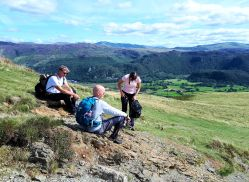 Near the summit of Catbells