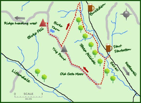 Birks Fell map