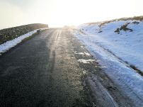 The start in winter sun