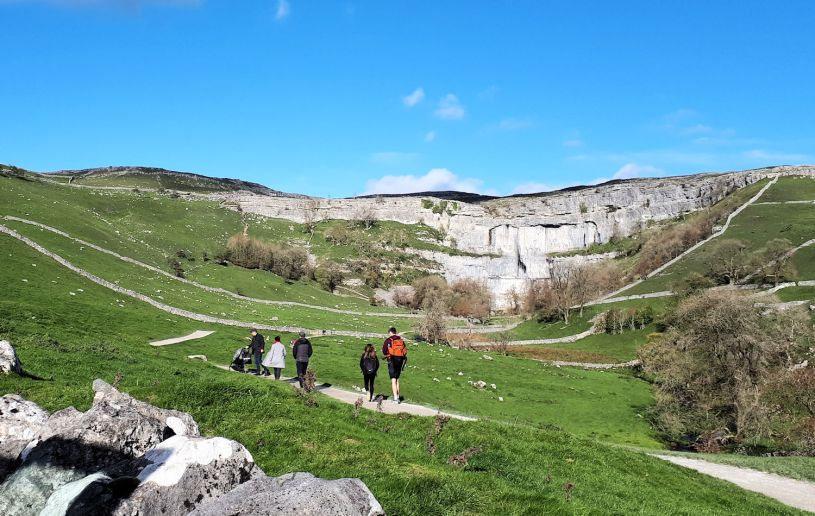 Approaching Malham Cove