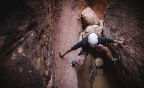 Stemming Across Slot Canyon Yankee Doodle Utah