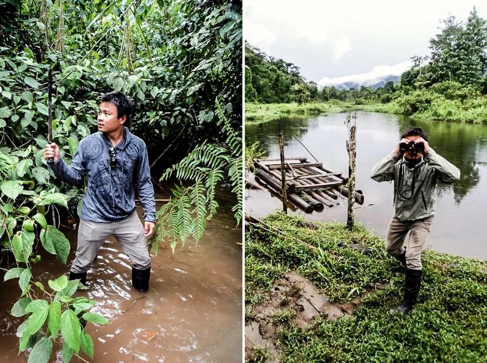Kien Lam Wielding Machete In Amazon Rainforest
