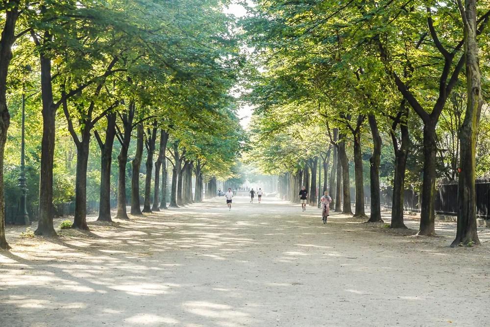 Running Trails At Champ Du Mars In Paris