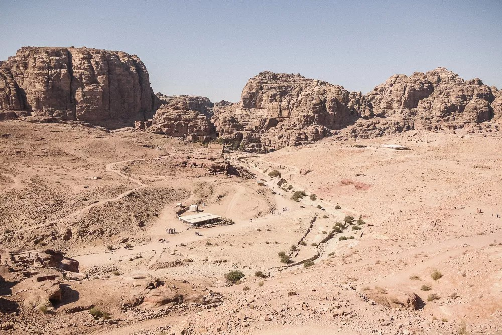 The expansive valley of Petra's Lost City