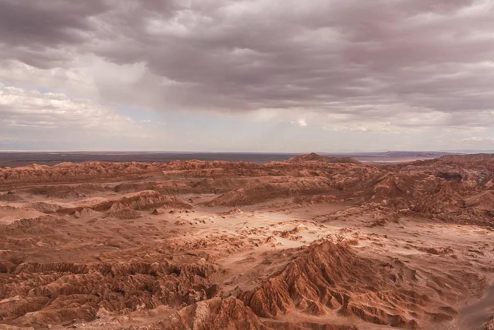 Dramatic Valle de la Muerte in Chile