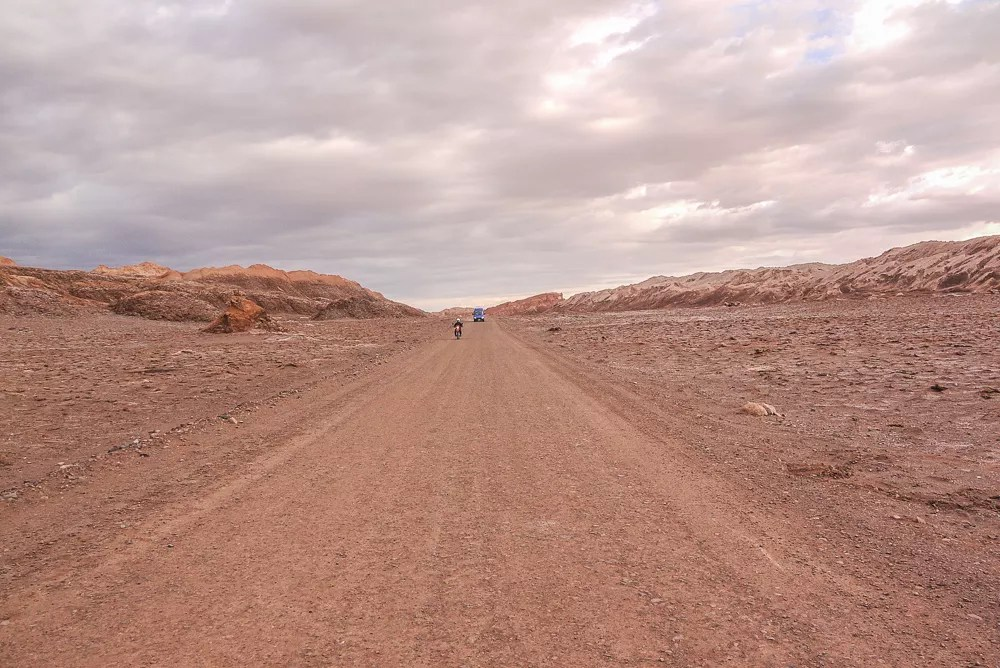 Biking Dirt Road to Valle De La Luna