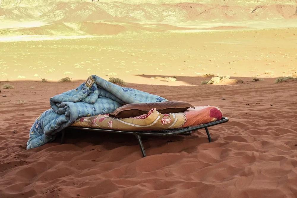 Bedouin Camp Bed In Desert