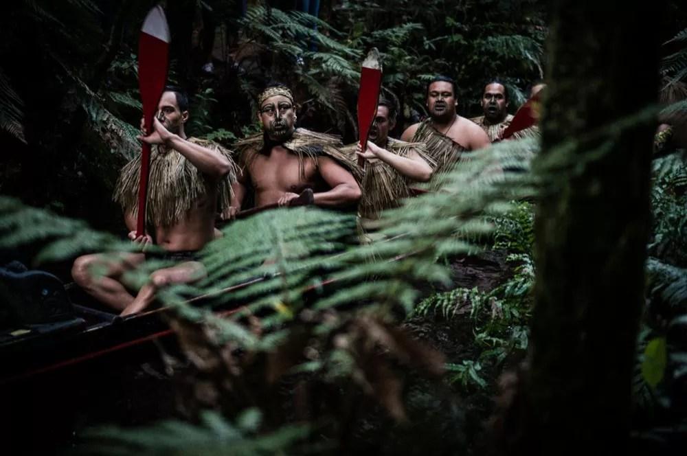 Mitai Village Warriors In Waka War Canoe