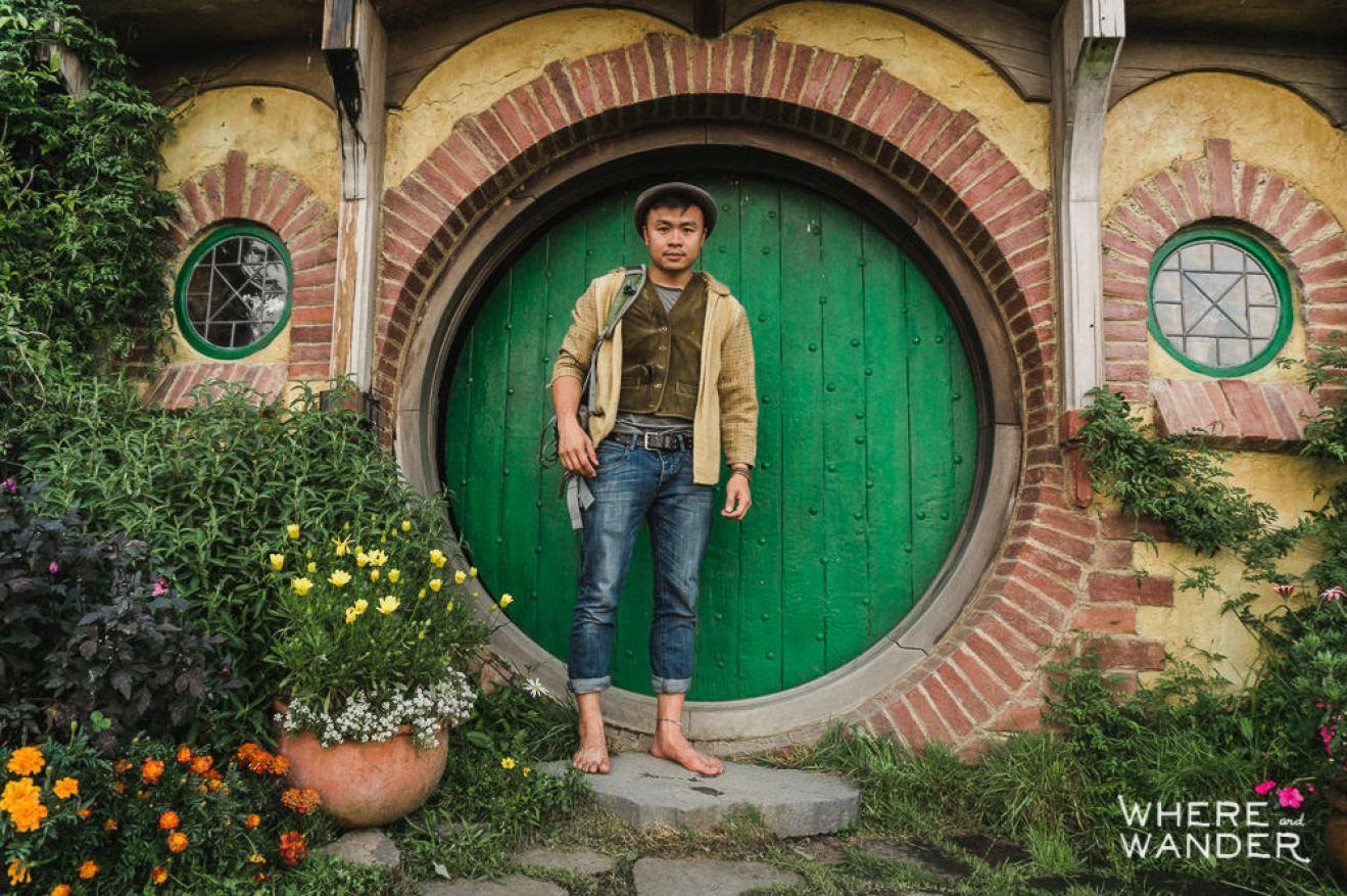 Kien Lam Dressed Up As a Hobbit At Hobbiton