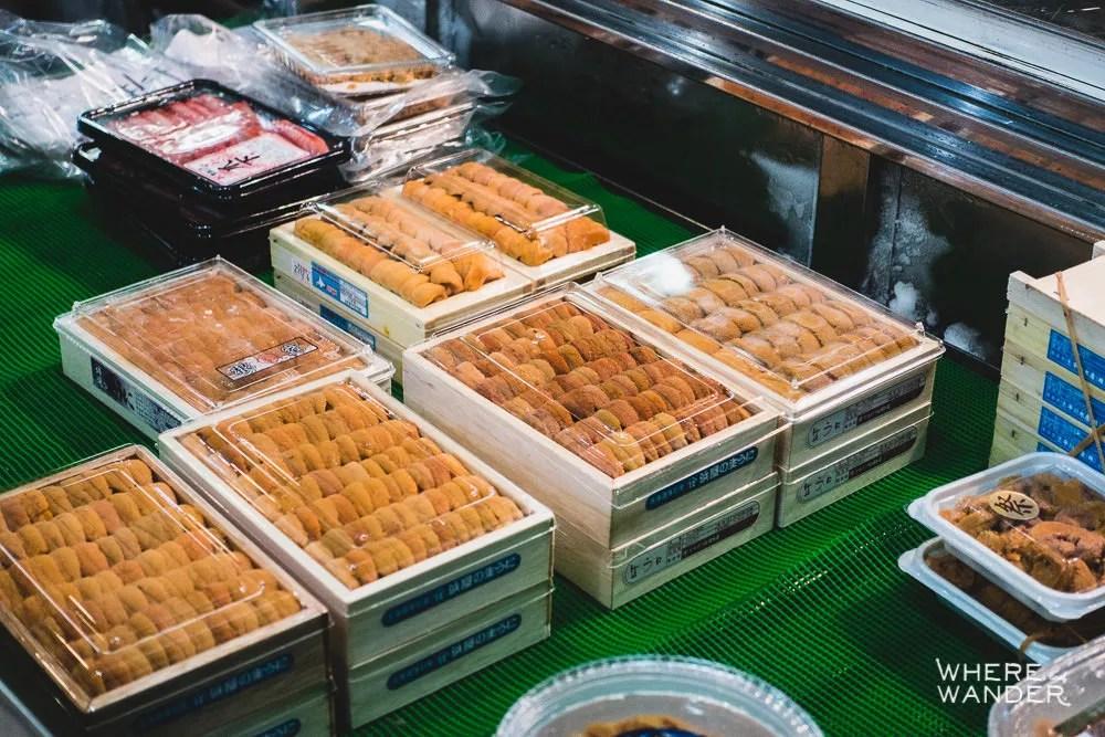 Where To Buy Fresh Uni Sea Urchin At Tsukiji Fish Market