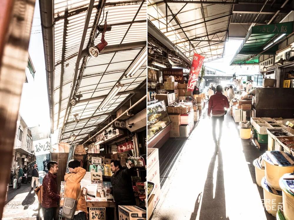 Wandering The Open Air Market Outside Tsukiji Fish Market