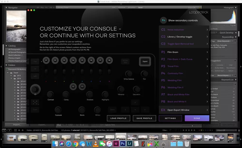 Loupedeck Secondary Configuration Option Screen