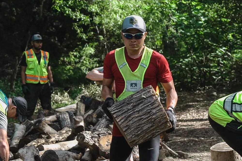 SISU Iron Wood Chopping At Camp Trask