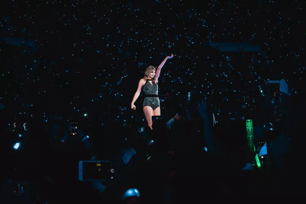 Taylor Swift at Rose Bowl During Reputation Stadium Tour Concert