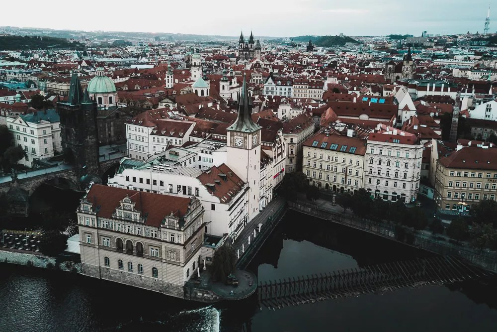 Central Prague From Drone