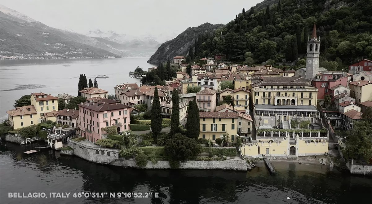 Bellagio Italy Lake Como From Drone