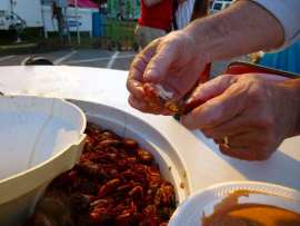 Peeling Crawfish Lesson Photo: Maralyn D. Hill