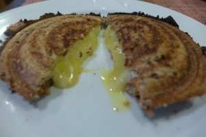 Cut Grilled Cheese Sandwich Photo: Maralyn D. Hill