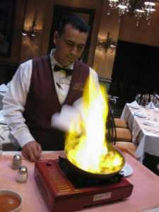 Flamed Dessert Photo: Maralyn D. Hill