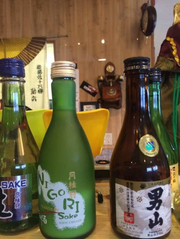 Excellent selection of sake at Domo