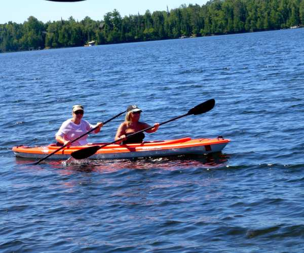 Christy & Gini Kayaking