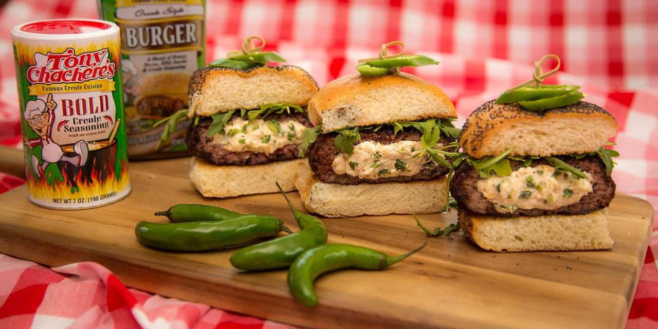 Tony Chachere's Stuffed Bold Burger