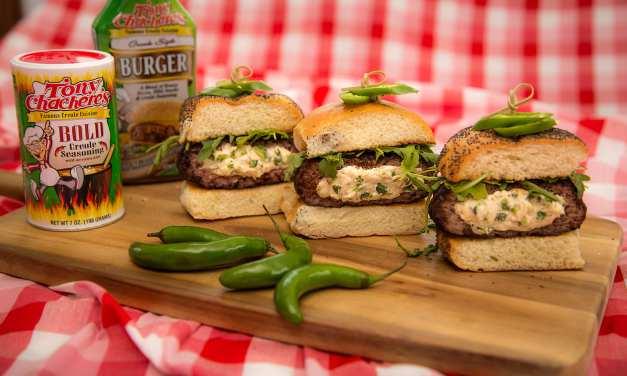 Tony Chachere's Stuffed Bold Burger