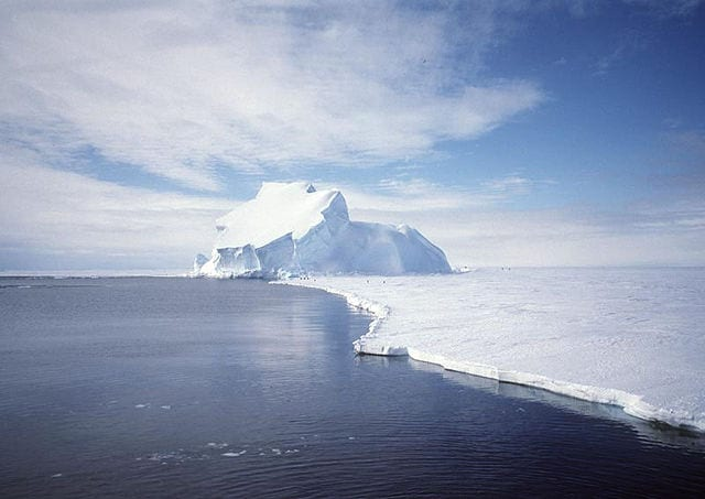 View of Riser Larsen Ice Shelf, Antarctica