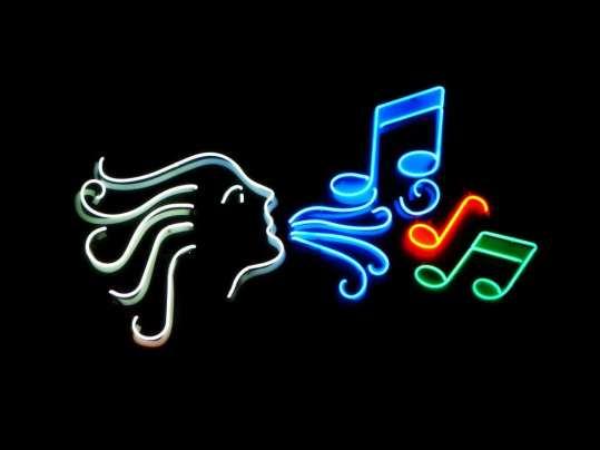 Neon Music Sign credit: vhttps://commons.wikimedia.org/wiki/File:Music_01754.jpg