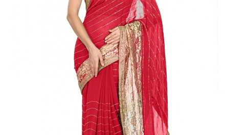 How to get a modern look with party wear sarees