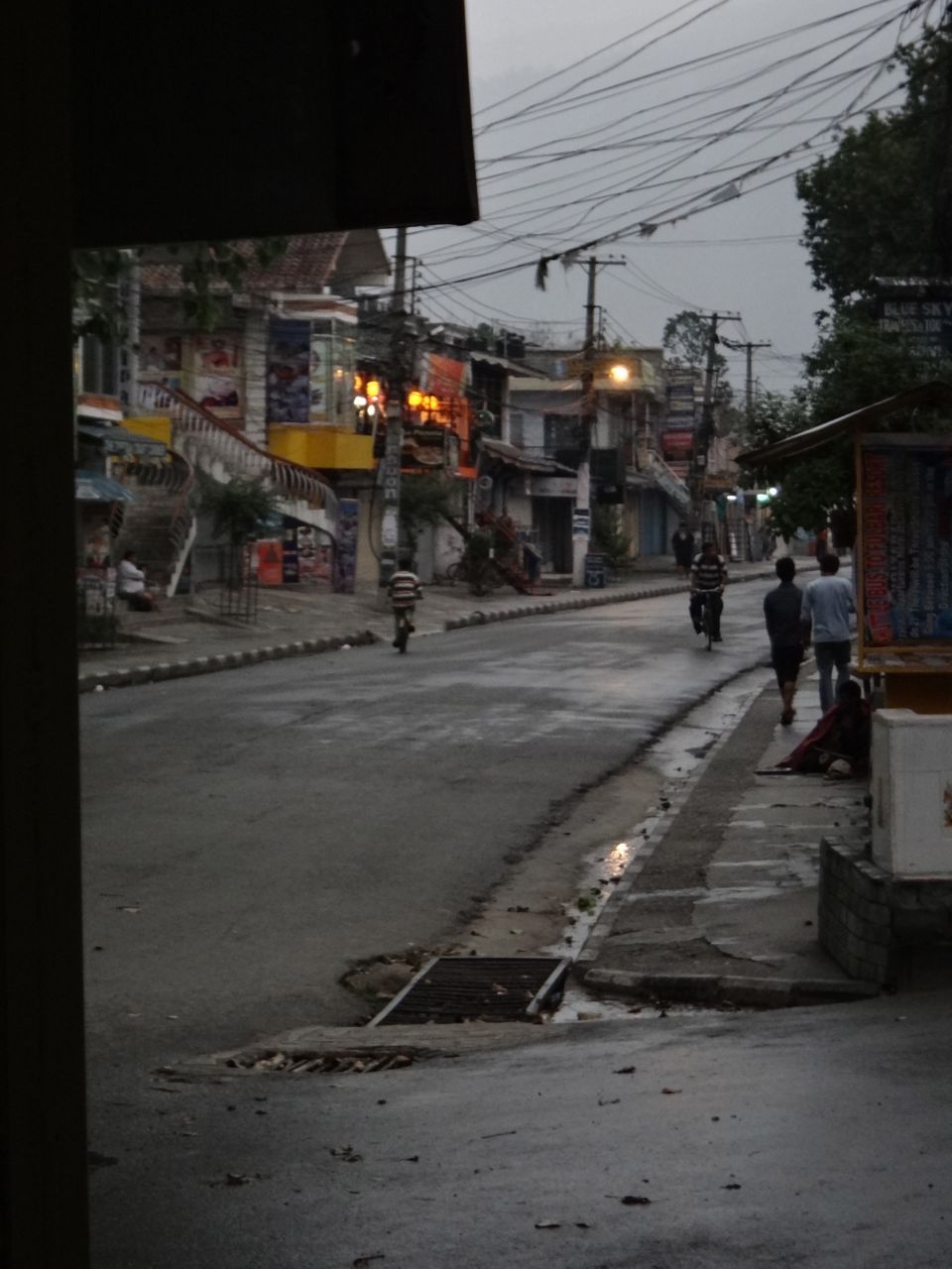 A bandha (political strike) AND a big storm in Pokhara. The normally packed and busy streets were like a ghost town. Fun.