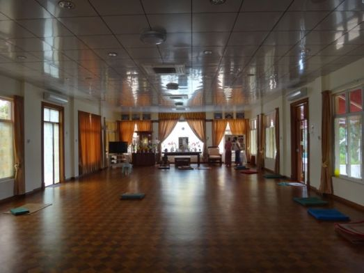 The meditation hall at IMC.