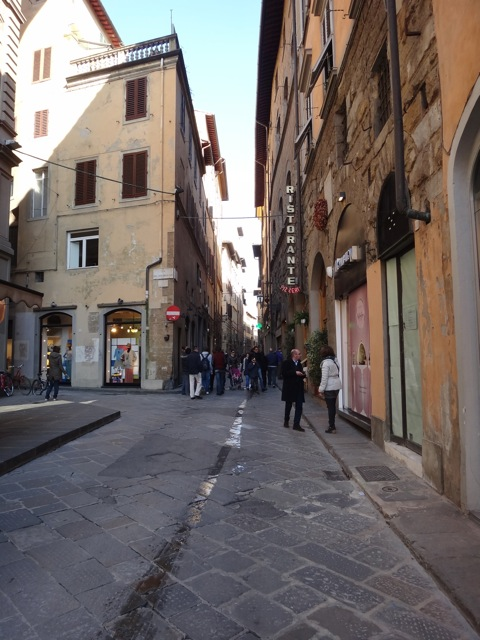 Loving the streets of Florence.