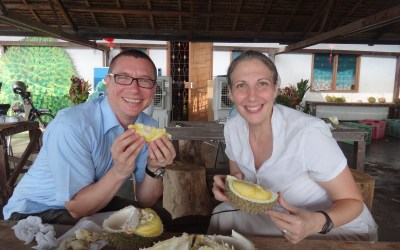 Our great durian fruit adventure in Malaysia.