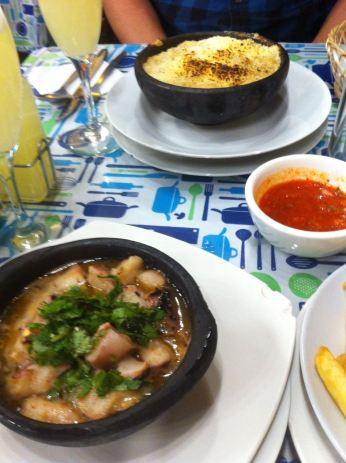 Crab pie, Octopus and pisco sours for lunch!