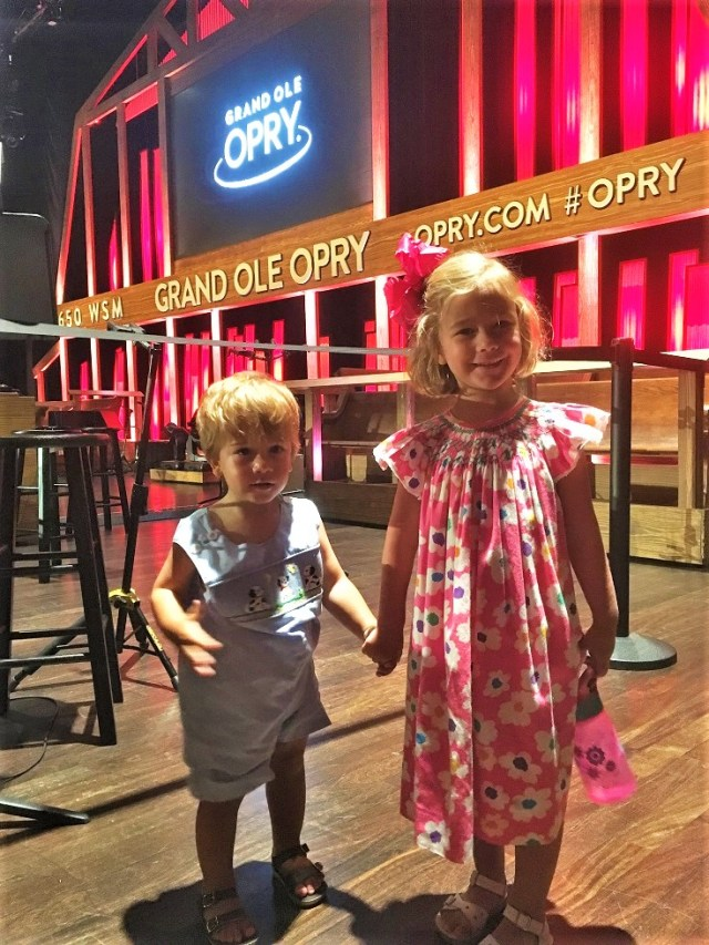 Kids on stage at Grand Ole Opry