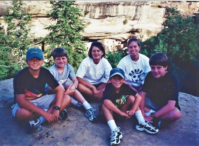 Our family road trip to Mesa Verde in 1999.