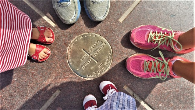 Four Corners National Monument. The meeting point of Arizona, Utah, Colorado, and New Mexico.