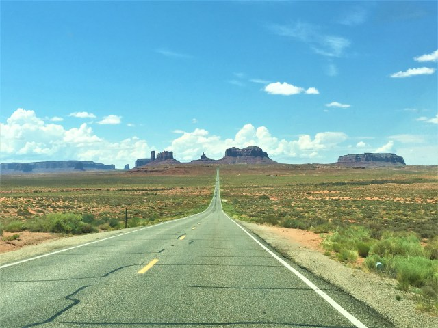 The view coming into Monument Valley.