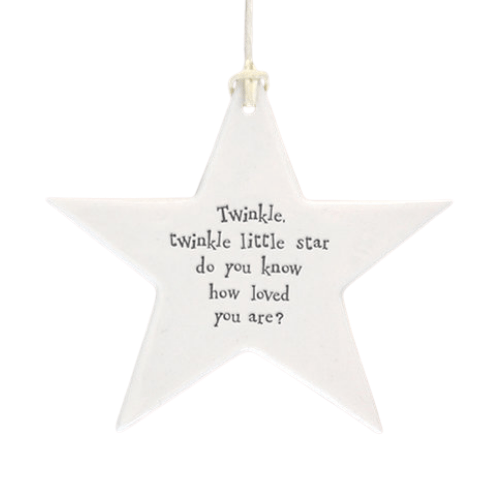 Twinkle Twinkle-Ceramic Star.