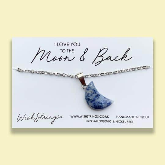 moon-necklace- love you to the moon and back gift card