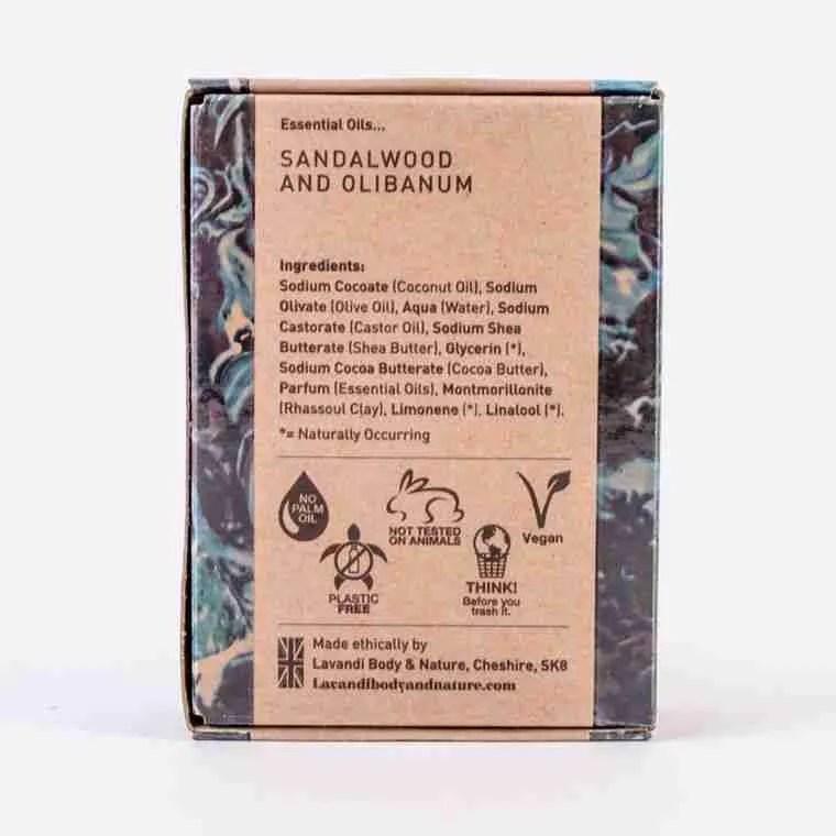 Lavandi Man- Back of box