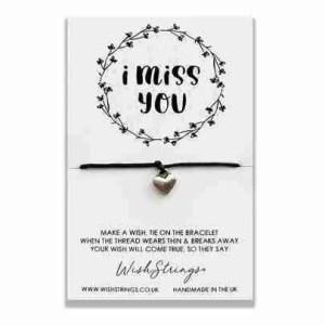 I Miss You- Wish Bracelet