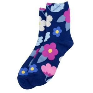 Blue Floral Socks