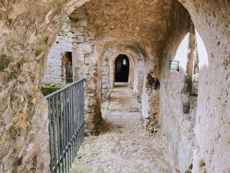 image of the inside of Castle Rising in Norfolk