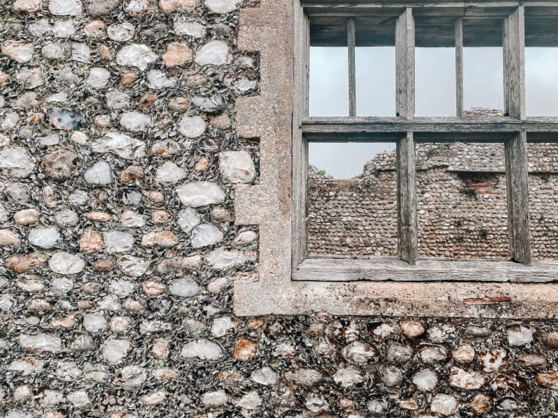 image of window at Baconsthopre Castle