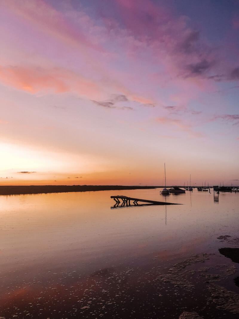 image of sunset in Blakeney