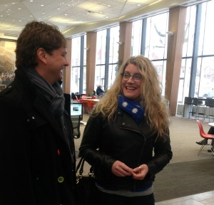 Water and environmental expert Tony Maas with Kayleigh Platz, community relations manager at Communitech.