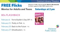 Our Free Flick was Ferris Bueller - don't miss the rest of 80s Flashback Month.